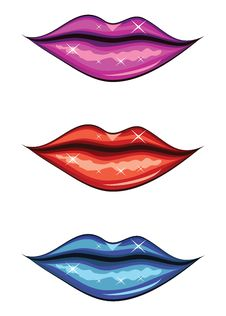 Free Woman Lips Of Different Colors Royalty Free Stock Photos - 28328778