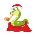 Free Chrismas Snake Symbol Of 2013 Year Stock Photography - 28333482