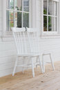 Free White Wooden Chair Front Porch Stock Image - 28334281