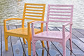 Free Two Chairs On The Waterfront Royalty Free Stock Images - 28334359