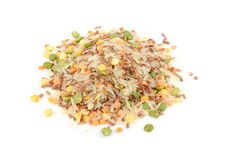 Pile Of Rice And Legume Mix Royalty Free Stock Photography
