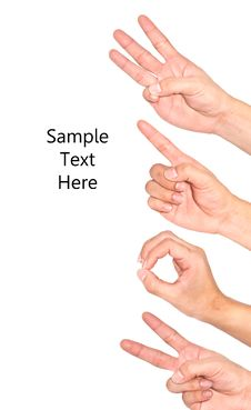 Hand Used As A Symbol. Stock Photos