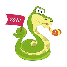 Free Snake Symbol Of 2013 Year Royalty Free Stock Images - 28333479
