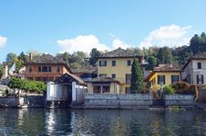 Free Garage For Boats In Town Orta San Giulio, Italy Stock Image - 28334141