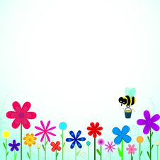 Free Bee With Flowers Royalty Free Stock Images - 28335819