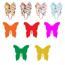 Free A Huge Set Color Butterfly Stock Image - 28336341
