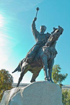 Free Monument To Hetman Konashevych-Sahaidachny Royalty Free Stock Photography - 28336667