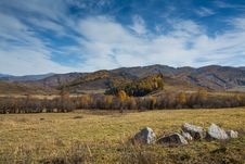 Free Grassland Of Xinjiang China Autumn Scenery Stock Photography - 28338562