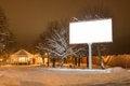 Free Night Winter Landscape Stock Photo - 28340610