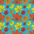 Free Vector Seamless Pattern With Leaves Stock Images - 28342454