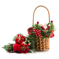 Free Decorative Basket, Santa Royalty Free Stock Image - 28349786