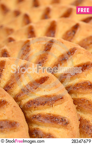 Free Sweet Shortbread Biscuits Close-Up Royalty Free Stock Images - 28347679