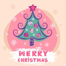 Christmas Colorful  Tree Royalty Free Stock Photos