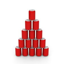 Cans Tower Royalty Free Stock Photos