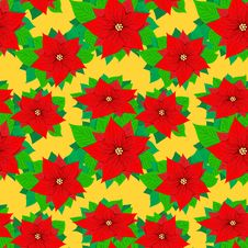 Free Seamless Pattern With Poinsettia Stock Photos - 28342473