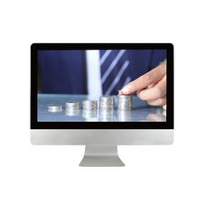 Free Businessman Hand Put Coins Royalty Free Stock Images - 28342759
