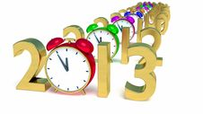 Free New Year 2013 Stock Photography - 28344032