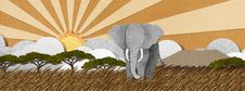 Free Elephant  Made From Recycled Paper Background Royalty Free Stock Photo - 28345265