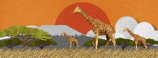 Free Giraffe Made From Recycled Paper Background Royalty Free Stock Photos - 28345528