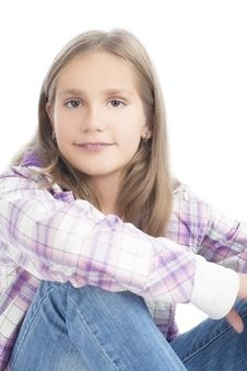 Free Portrait Of A Nice Little Girl Stock Images - 28346514