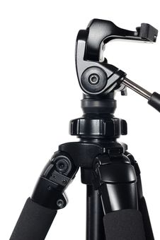 Camera Tripod On White Background Royalty Free Stock Photos