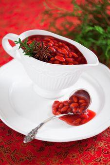 Free Goji Berry Sauce Stock Photography - 28347892