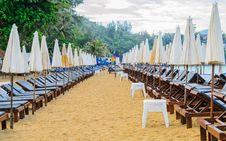Surin Beach In The Morning, Phuket Royalty Free Stock Photography