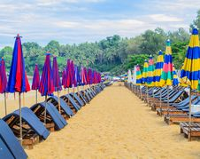 Surin Beach In The Morning, Phuket Royalty Free Stock Images