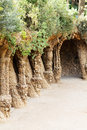 Free Park Guell Stone Colonnad Stock Images - 28356384