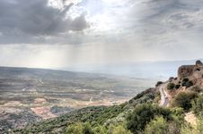 Free Israeli Landscape With Castle And Sky Stock Photo - 28350880