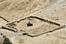 Free Cable Way On Masada Stronghold, Israel. Stock Photos - 28352713