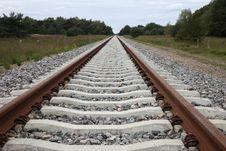 Free Renewed Rails To The Horizon Stock Photos - 28353913