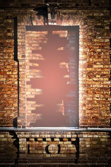 Free Hole In A Brick Window Stock Photo - 28358420