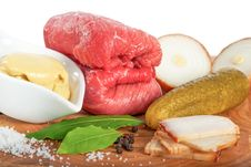 Free Fresh Ingredients For Beef Roulade Stock Photography - 28358822