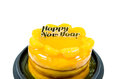 Free Orange Cake With Golden Happy New Year Text  Isolated Royalty Free Stock Photo - 28361165