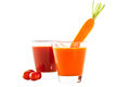 Free Freshly Blended Tomato And Carrot Juice Stock Images - 28362944