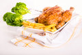 Free Crisp Golden Roast Chicken Royalty Free Stock Images - 28369319