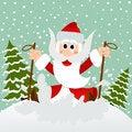Free Santa On Skis Stock Photo - 28369460