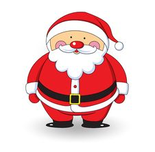 Santa Claus On White Background Royalty Free Stock Photography