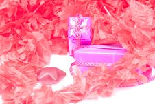 Free Pair Of Gifts In Red Petals Royalty Free Stock Images - 28367599
