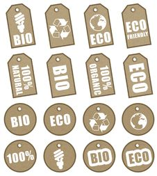 Free Eco Tags Stock Photography - 28367862