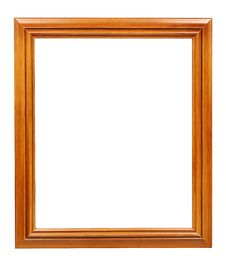 Free Rectangular Wooden Frame Isolated On White Royalty Free Stock Photo - 28368465