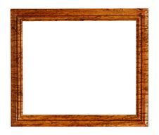 Free Veneered Wooden Frame Isolated On White Royalty Free Stock Photos - 28368498