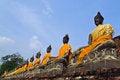 Free Ancient Buddha Image Line Up Royalty Free Stock Image - 28376266