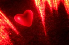 Heart In The Light Of The Laser Stock Photos
