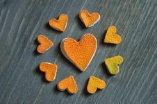 Free Heart Of Grapefruit Peel Stock Photography - 28372762