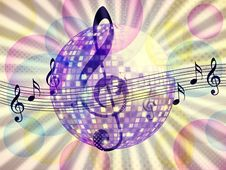 Funky Music Background With Dico Ball Royalty Free Stock Images