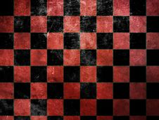 Free Grunge Red Checkers Stock Image - 28374241
