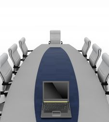 Free Conference Table With Empty Chairs Stock Photo - 28378580