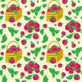 Free Vector Seamless Pattern With Baskets Royalty Free Stock Photo - 28386105